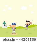 ベースボール 白球 野球のイラスト 44206569