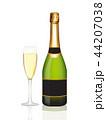 お酒 ビン シャンパンのイラスト 44207038