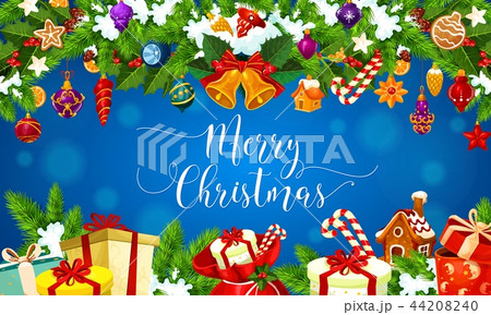 Christmas gifts, Xmas decorations greeting card 44208240