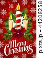 クリスマス キャンドル ロウソクのイラスト 44208258
