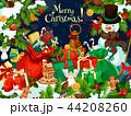 クリスマス ゆきだるま スノーマンのイラスト 44208260