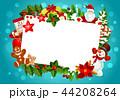 クリスマス グリーティング フレームのイラスト 44208264