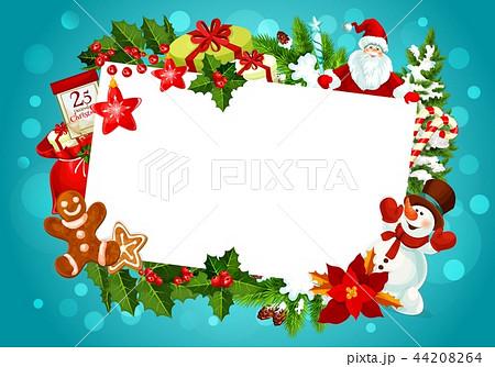 Christmas greeting card empty blank frame 44208264