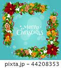 クリスマス フレーム 角のイラスト 44208353