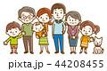 家族 三世代家族 ベクターのイラスト 44208455
