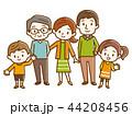 家族 三世代家族 三世代のイラスト 44208456