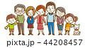 家族 三世代 ベクターのイラスト 44208457