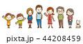 家族 三世代家族 三世代のイラスト 44208459