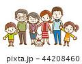 家族 三世代家族 三世代のイラスト 44208460