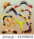 Boomerang vector aboriginal throwing weapon and australian souvenir sport toy in australia 44208608
