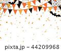 ハロウィン 背景 紙吹雪のイラスト 44209968