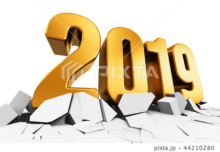 New Year 2019 holiday celebration concept 44210280