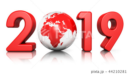 New Year 2019 holiday celebration concept 44210281