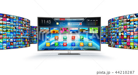 Streaming media technology and multimedia concept 44210287