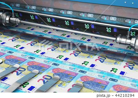 Printing 20 Euro money banknotes 44210294