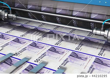 Printing 50 DK Danish krona money banknotes 44210295