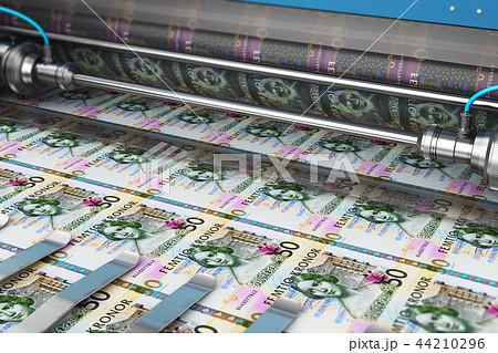 Printing 50 SEK Swedish krona money banknotes 44210296