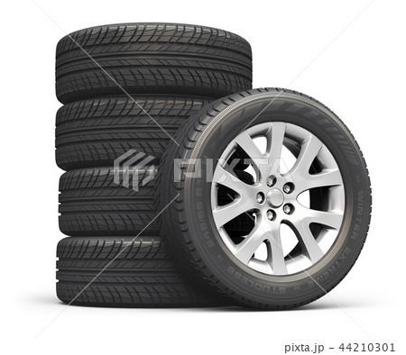 Set of car wheels 44210301