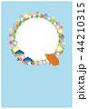 年賀状 フレーム 亥年のイラスト 44210315