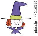 ハロウィン 仮装 魔女のイラスト 44210319