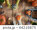 family celebrating Halloween 44210875