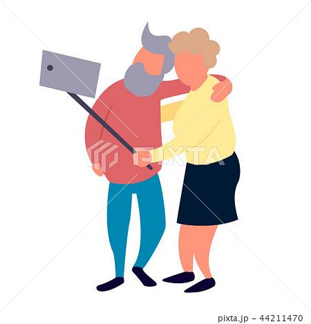 old people couple make selfie recreation and leisure senior