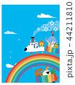 虹のレールとアニマル列車 44211810