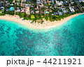 《ハワイ》ラニカイビーチ・オアフ島《航空写真》 44211921