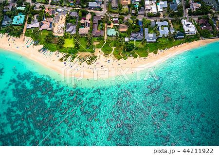 《ハワイ》ラニカイビーチ・オアフ島《航空写真》 44211922