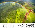 《ハワイ》空から眺めた虹の輪・オアフ島《航空写真》 44212995