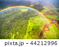 《ハワイ》空から眺めた虹の輪・オアフ島《航空写真》 44212996