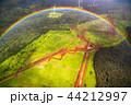 《ハワイ》空から眺めた虹の輪・オアフ島《航空写真》 44212997