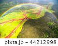 《ハワイ》空から眺めた虹の輪・オアフ島《航空写真》 44212998