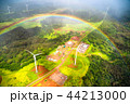 《ハワイ》空から眺めた虹の輪・オアフ島《航空写真》 44213000