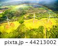 《ハワイ》空から眺めた虹の輪・オアフ島《航空写真》 44213002