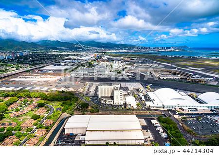 《ハワイ》ホノルル国際空港・オアフ島《航空写真》 44214304