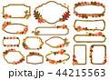 秋 紅葉 フレームのイラスト 44215563