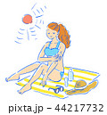 女性 夏 ビキニのイラスト 44217732