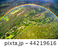 《ハワイ》空から眺める虹の輪・オアフ島内陸《航空写真》 44219616