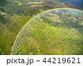 《ハワイ》空から眺める虹の輪・オアフ島内陸《航空写真》 44219621