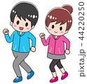 ベクター ジョギング ランニングのイラスト 44220250