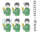 スマートフォン 表情 ベクターのイラスト 44223539