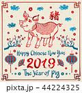 2019 ベクター お祝いのイラスト 44224325