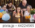 Happy family celebrating teenager girl anniversary 44224565