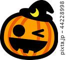 ハロウィン かぼちゃ おばけ 三日月黒帽子 44228998