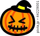 ハロウィン かぼちゃ おばけ 縫い目 黒帽子 44229001