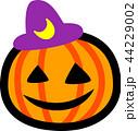 ハロウィン かぼちゃ おばけ 三日月紫帽子 44229002