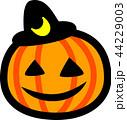 ハロウィン かぼちゃ おばけ 三日月黒帽子 44229003