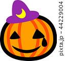 ハロウィン かぼちゃ おばけ 三日月紫帽子 涙 汗 44229004