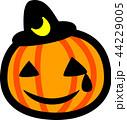 ハロウィン かぼちゃ おばけ 三日月黒帽子 涙 汗 44229005